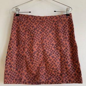 Free People Modern Femme Printed Mini Skirt 8